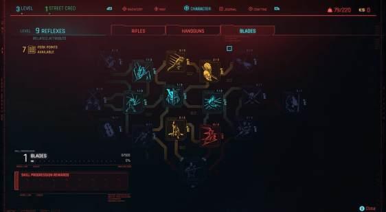 Cyberpunk 2077 Skills & Perks