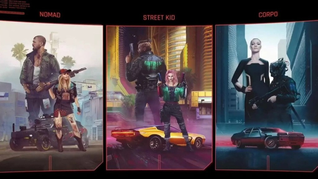 Cyberpunk 2077 Life Paths