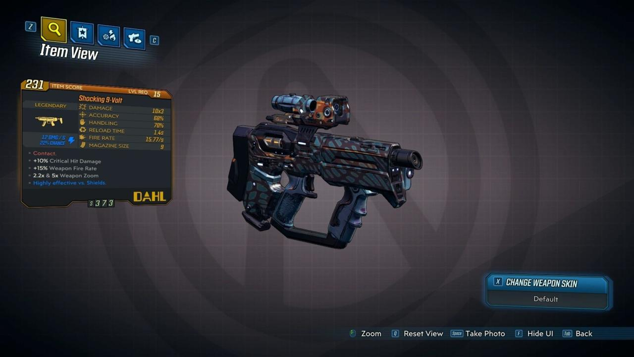 Borderlands 3 – 9-Volt – Legendary Weapon