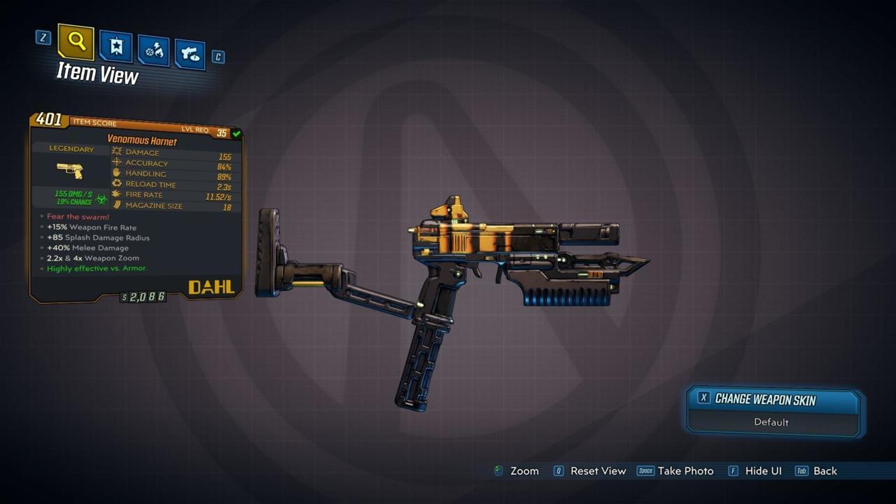Borderlands 3 – Hornet – Legendary Weapon