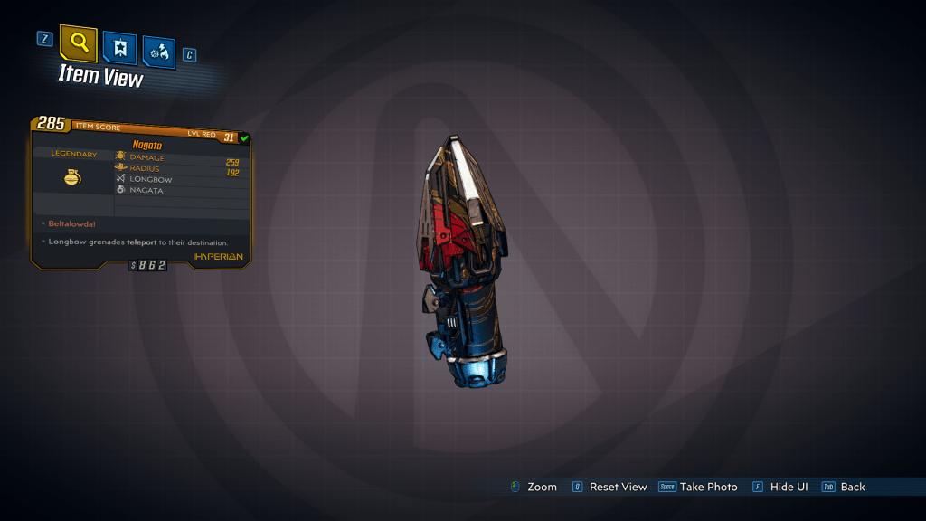 Nagata legendary grenade