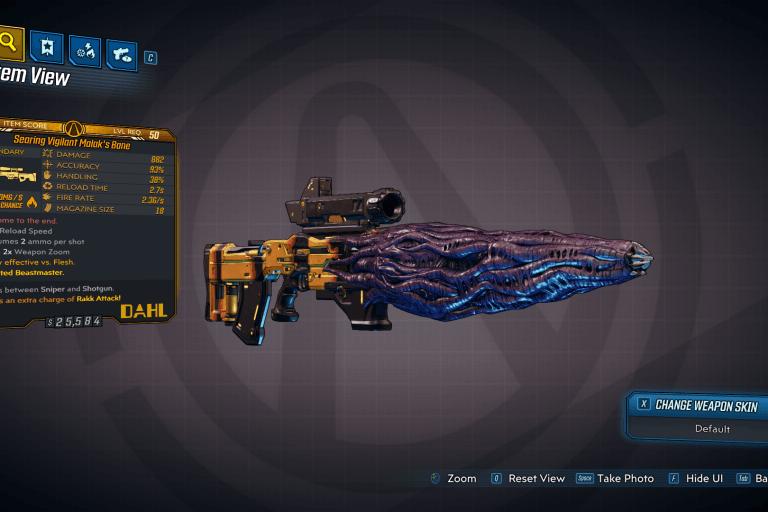 Searing Vigilant Malak's Bane legendary weapon