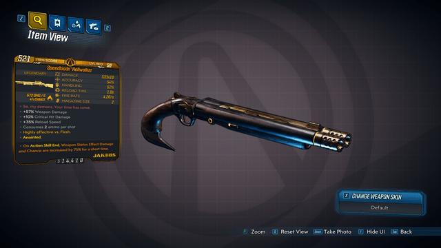 Speedloadin Hellwalker legendary Weapon
