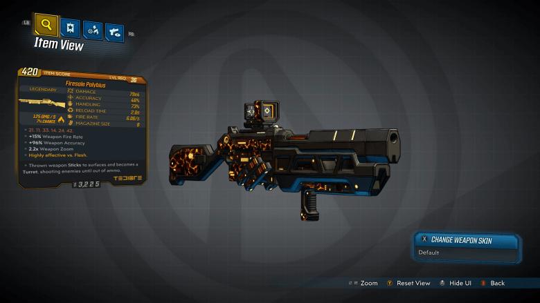 Polybius Legendary Weapon