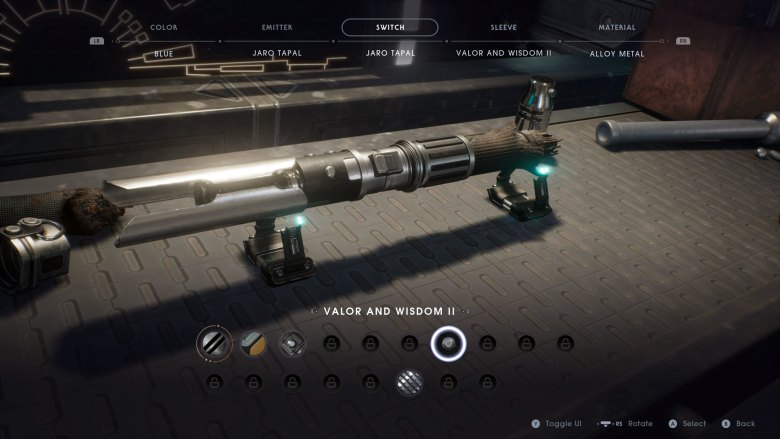 Valor and Wisdom II Lightsaber Switch