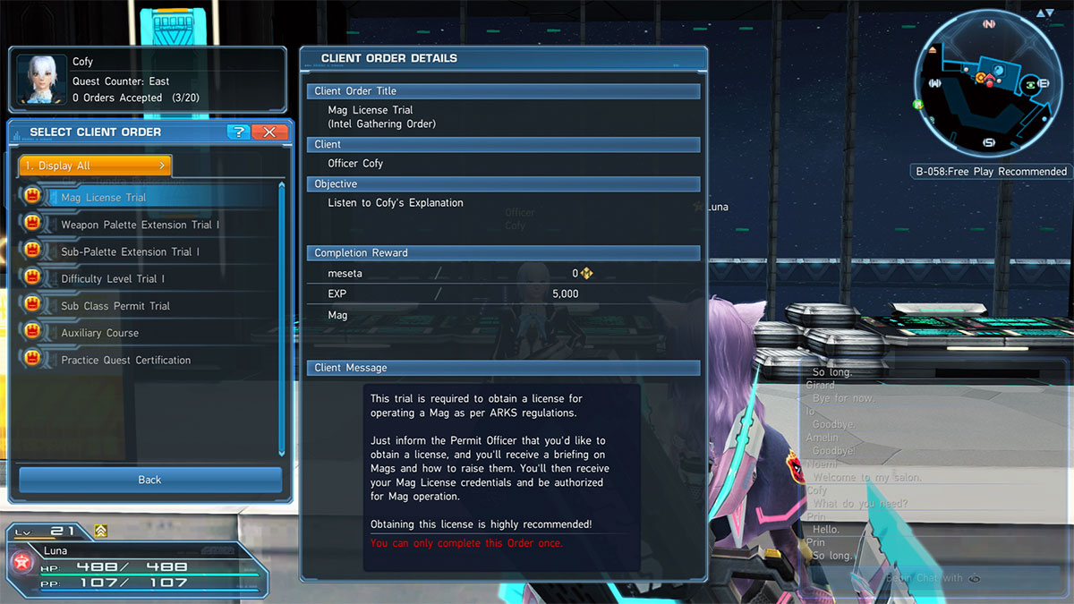PSO2 Client Orders List