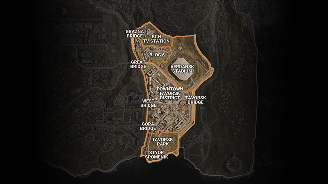 Warzone Map Sector 4