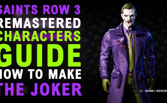 Saints Row The Third Remastered How To Make The JOKER