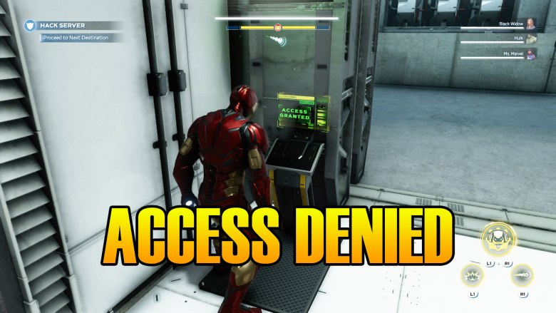 Marvel's Avengers How To Open Locked Door Access Denied Enter The Avengers