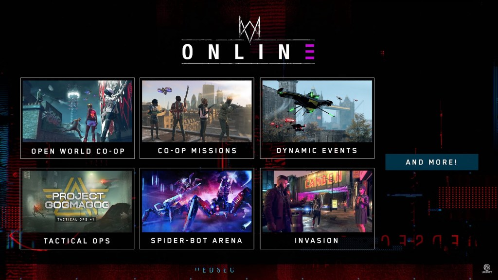 watch dogs legion online content