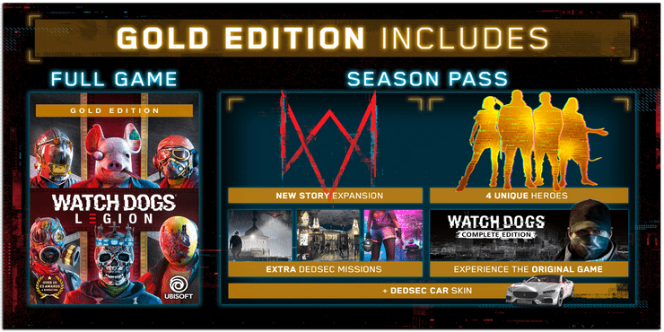 watch dogs legion gold edition