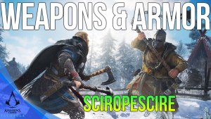 All Sciropescire Weapons & Armor