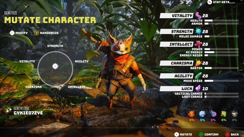 BioMutant Character Customisation: classes, breeds and mutations explained biomutant Mutations