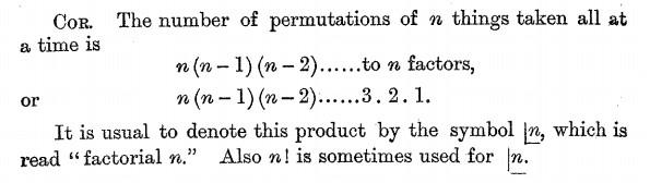 """""""a volte"""" n! è usato al posto della notazione a L"""