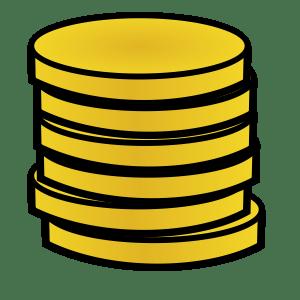 una pila di monete
