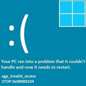 Как исправить ошибку AGP_INVALID_ACCESS