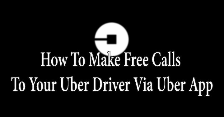 Как бесплатно звонить водителю Uber через приложение Uber