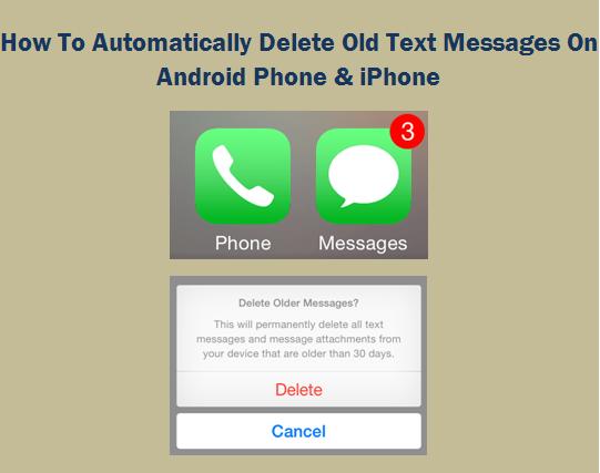 Как автоматически удалить старые текстовые сообщения на телефоне Android и iPhone