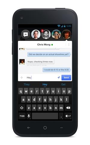 Как отключить головы чата в Facebook Messenger на Android
