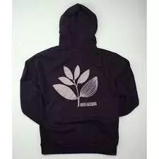 Magenta BACK PLANT Zipper Hoodie