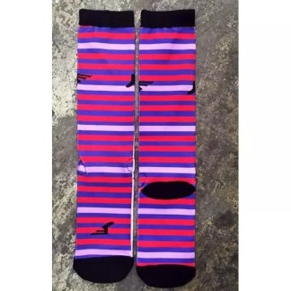 Footprint Knee High Socks - Stripes