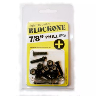 Block One Skateboard Phillips Hardware 7/8""