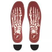 Footprint - Flat Insoles 5mm - Skeleton - Red