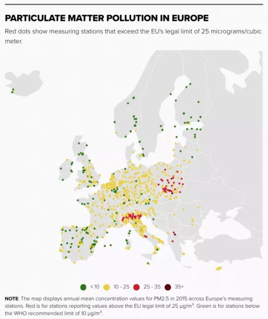 Air pollution linked to nearly 400,000 premature deaths in EU