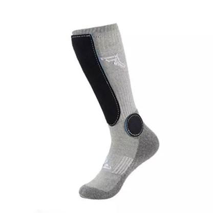 Footprint Painkillers Socks Knee High Grey