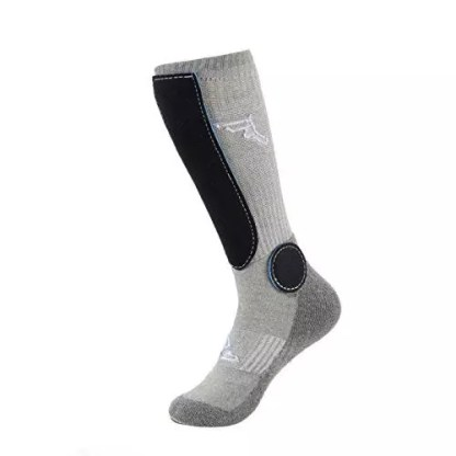 Footprint Painkillers Socks Knee High Grey