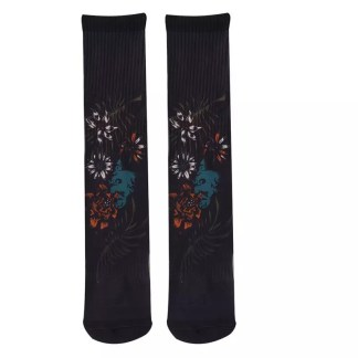 Footprint Knee High Socks - Ethnic
