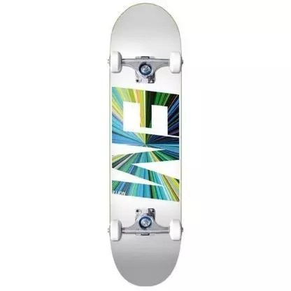 "EMillion Spectrum White 8.0"" Complete Skateboard"