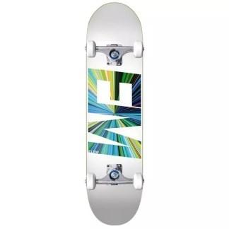"""EMillion Spectrum White 8.0"""" Complete Skateboard"""