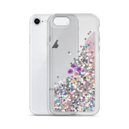 Popcorn ID Logo Liquid Glitter iPhone Case