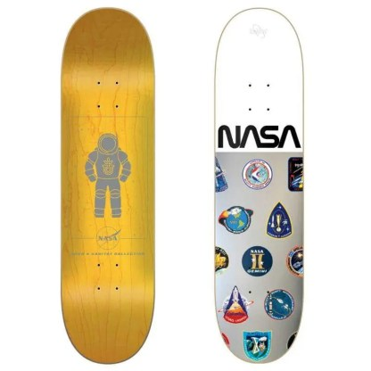 "Habitat NASA Collection Silver/White Foil 8.0"" Skateboard Deck"