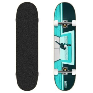 "Tricks Lipslide 7.87"" Skateboard Complete"