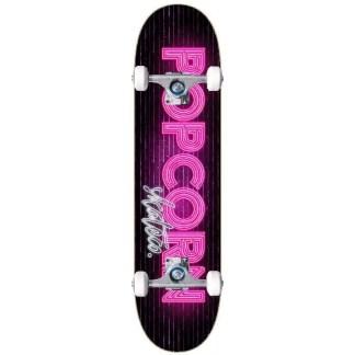 Popcorn Neon Wall Complete Skateboard