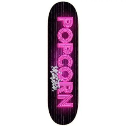 Popcorn Neon Wall Skateboard Deck