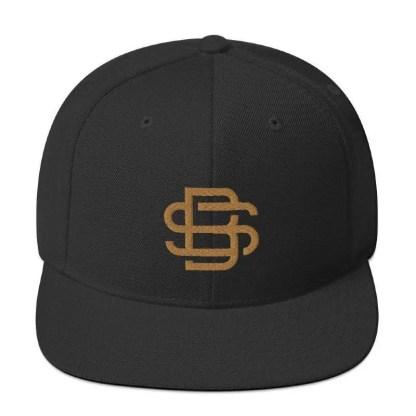 SB Black Snapback Cap