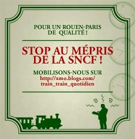 Pour un train Rouen-Paris de qualité
