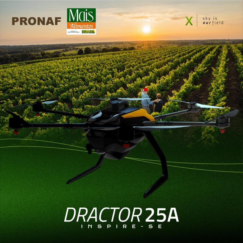 PRONAF Mais Alimentos drone pulverizador Dractor 25A XMobots