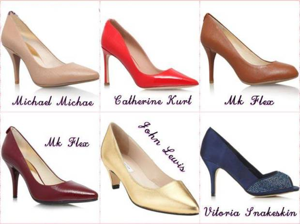 Pantofi cu toc mediu primavara 2015