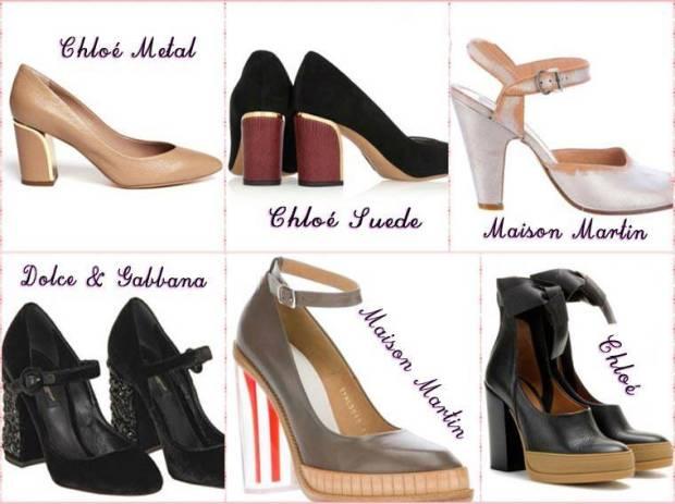 Pantofi cu toc comfortabil primavara 2015