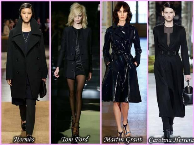Paltoane negre pentru femei 2015 primavara