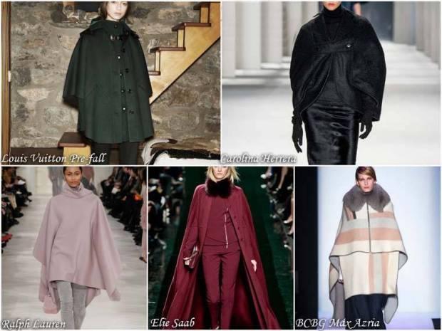 Palton la moda cu pelerina