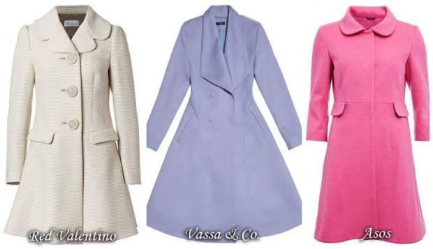 Model retro de palton rochie