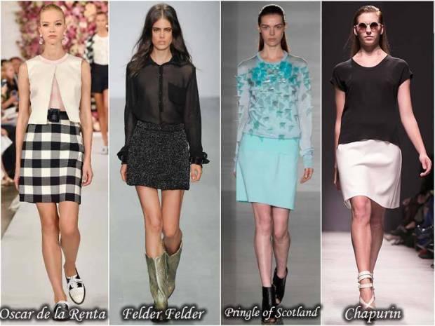 Fuste stilate clasice primavara 2015