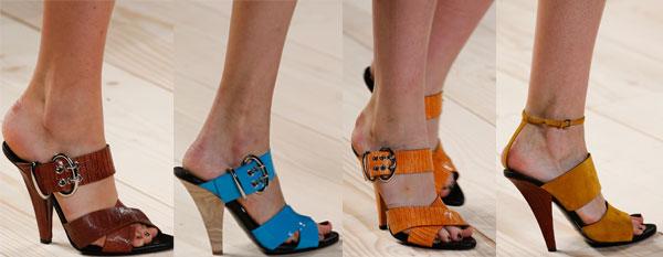 Sandale dama cu toc inclinat Nina Ricci
