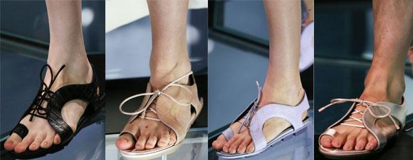 Sandale de vara dama cu sireturi
