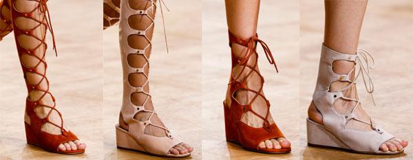 Sandale gladiator la moda